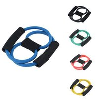 fitness body building - Resistance Training Bands Tube Workout Exercise for Yoga Type Fashion Body Building Fitness Equipment Tool J6V