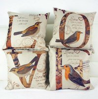 love chair - Birds Alcedo Sofa Cushion Linen Cotton Office Chair Cushion Including Pillow Decorative Throw Pillow LOVE Pattern x18inch Patterns