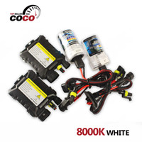 Wholesale 1Set K white DC V W light bulb H1 H3 H7 H8 H9 H10 H11 H4 Xenon HID Kit Car Headlight Slim Ballast