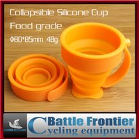 Wholesale new g ultralight portable outdoor collapsible silicone cup with hand foldable travel cups for bike hiking mountaineering