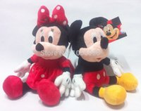 mickey mouse plush toy - 2pcs cm Mini Lovely Mickey Mouse And Minnie Mouse Stuffed Animals Plush Toys For Children s Gift