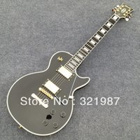 Wholesale custom shop black ebony fingerboard gold hardware electric guitars LP guitar