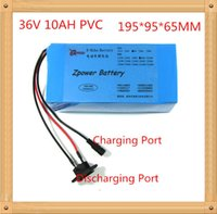 Rechargeable bike battery 36v - Rechargeable W V AH Electric Bike Battery with PVC case A charger A BMS