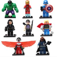 Finished Goods big falcons - Super Heroes Falcon Black Widow Hulk Captain America Ironman Minifigures SY161 Plastic Building Block Set