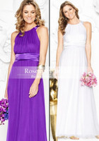 bella bridesmaid dress - 2016 Bella Rose Light Lavender Bridesmaid Dress Sheath Bateau Satin Belt Chiffon Ankle Length Zipper Sassy Bridal Party Dress Prom Dress