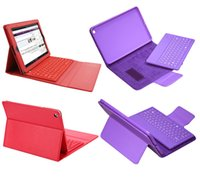Wholesale Smart PU Leather Stand Wireless Bluetooth Keyboard Case For Ipad