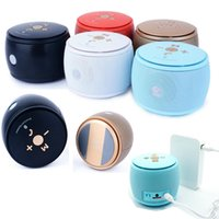 Wholesale F08 Column Bluetooth Speaker Chinese Drum Super Bass Mini Portable Multi Function Wireless Handfree MIC Stereo Speaker For Phone Tablet DHL