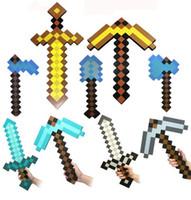 Wholesale Minecraft sword Figure toy Minecraft Foam Sword Piackaxe AXE Hoe Shovel Sword pickaxe toy set Christmas Gift for kids
