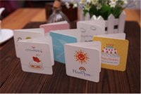 Wholesale 24types Korean cute mini greeting cards for kids birthday card message card party supplies invtiation cards