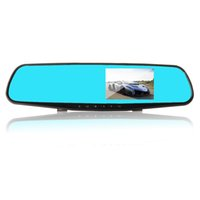 Wholesale car dvd quot Blue car camera rearview mirror auto dvrs cars dvr parking recorder video registrator camcorder full hd p night vision