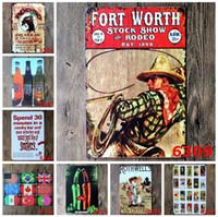 bar west - lastest fashion cm wild west cowboy poster tin sign Coffee Shop Bar Restaurant Wall Art decoration Bar Metal Paintings