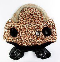 free shipping dog clothes - Luxury fur Dogs Bubble Cotton national flag Leopard suit Dog coat Pet winter clothing Dog warm apparel