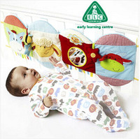 Wholesale 1 piece bed backrest cloth book Baby Toy Multifunctional Animals Around Safety Mirror squeaker learn and education toys newborn