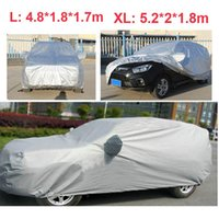 Wholesale Universal Anti UV Car Cover Dustproof Car Clothes Vehicle Scratch Proof SUV Surface Protector Full Car Styling L XL order lt no track