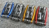 Wholesale New Arrive Colors in Bicycle Moutain Road Bike Tool Set Bicycle Cycling Multi Repair Tools Sets Kit Wrench Screwdriver Chain Cutter