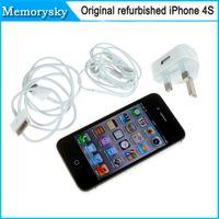Wholesale Hot sale iPhone s Unlocked Original Apple iPhone S mobile phone G wifi GPS GB GB ROM iOS Dual Core Refurbished phones Newest