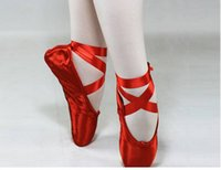 Wholesale High quality ladies Professional Soft Ballet Pointe Elegant Satin Air Mesh Dance Shoes With Ribbons