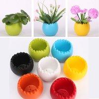 Wholesale Modern Style Mini Flowerpot Colorful Plastic Flower Plant Pot Home Balcony Office Desktop Nursery Pots Garden Bonsai