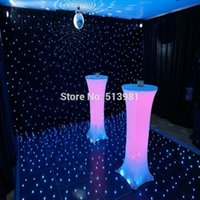 bar table legs - Pack Spandex Lycra Cover Tablecloth For Leg cm Poseur Cocktail Bar Table Wedding Party Event Decorations