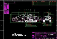 Wholesale HK200 hydraulic excavator drawings Full Machining drawings ATUO CAD