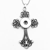 Wholesale cross snap button jewelr pendant Necklace OEM ODM NX720 fit mm mm snaps