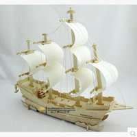 Wholesale A0020 top fasion freeshipping Wooden ship models d stereoscopic DIY assembled model toy sailboat ancient