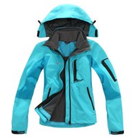 Wholesale 2016 Women breathable soft shell ski jackets waterproof windproof Hooded coats down parka Outdoor sports clothing plus size S XL