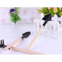 Wholesale 2014 Hot Sellers New And High Quality Set Mini Garden Tools Shovel Rake Spade Wood Handle Metal Head Kids Tool