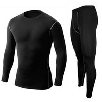 Wholesale High Quality Men s Sports Compression Under Base Layer Gear Wear Shirt Top and Bottom