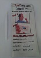 alcohol saliva test - Cheap Disposable Alcohol Tester Saliva Alcohol Test Kits Rapid Alcohol Testing Strip gadget DHL EMS