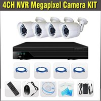 Wholesale 4ch NVR Kit P with POE HDMI megapixel IP IR Waterproof Cameras video surveillance cctv channel NVR security camera system