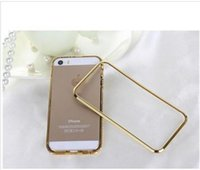 Wholesale New iphone6 case Hybrid Luxury Fashion Diamond Crystal Bling Metal Aluminum Frame Bumper Phone Shell For iPhone
