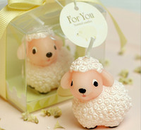 Wholesale Cheap In Stock New Cute white Sheep birthday candles party gifts wedding favors supplies occasion