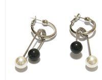 Wholesale pearl white black drops lady s earings xysppfh