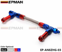Wholesale EPMAN High Quality AN8 AN Black Dual Feed Fuel Line AN Dominator Dual Feed Carb Fuel Line Kit EP AN8ZHG