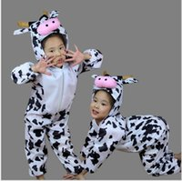 athletic clothes - child cow perform clothes set baby animal clothing set kids romper for photography modeling wear perform clothes