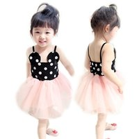 Wholesale 2016 Summer Girls Dress Children Minnie Mickey Dots Braces Princess Skirt Baby clothing dresses girl dress