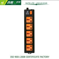 Wholesale 5 Way Multi Universal AC Socket V Electrical Socket AC Power with General Switch Standard Grounding General Purpose