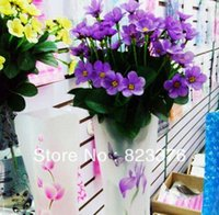 Wholesale DHL flower vases Plastic PVC Foldable Flower Vase