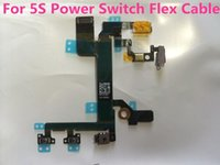 Wholesale Power Switch Flex Cable For iPhone S G C On Off Flex Cable Ribbon Light Sensor Switch Original Power Button With Poly Bag
