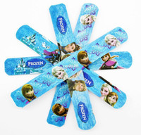 banding magic - 100pcs popular MIXED Colors Frozen Princess Elsa Anna Olaf Magic Ruler Slap Band Bracelets bangles Party Child Gift