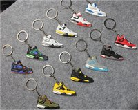 shoe keychain - Best Basketball shoe Sneakers keyring KeyChain Charm Sneakers Keyrings Keychains Hanging Accessories Novelty Fashion Shoes Key Chain Rings
