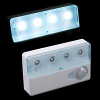 Wholesale LED Infrared PIR Auto Sensor Motion Detector Light Degree For AAA batteries Leds Hihg Brightness Infrared sensor lights