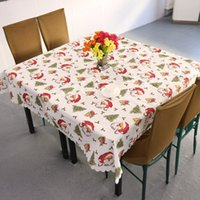 Wholesale New Design Christmas Santa Claus Tablecloth White Red Festivals Household Decoration
