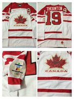 Cheap Mens #19 Thornton White 2010 Canada Team Vancouver Winter Olympic Hockey Jerseys Ice International Sports Stitched Premier Authentic Sports