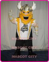 Mascot Costumes adult spartan costume - Viking Mascot Adult Costume spartan knight Brave Yellow Hair Beard Viking Warrior Mascotte Fancy Dress FREE SHIP SW1334