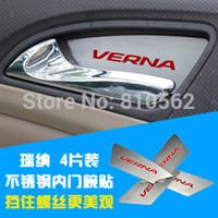 Wholesale Interior door handle Hyundai Verna Interior door handle bowl lid stickers Stainless steel door bowl cover car accessories