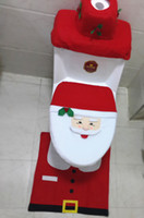 Wholesale Modern Christmas Santa Claus Bathroom Toilet Seat Cover Decoration Snowman Chair for Home Holiday Gift Supplies