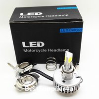 Wholesale Whosale W Lm Motorcycle LED Headlight sides degree lighting All in one driver High quality