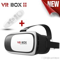 Wholesale NEW cardboard VR BOX II Version VR Virtual Reality D Glasses For inch Smartphone Bluetooth Controller
